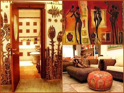 Африканский стиль интерьера словно создан для брутальных особ
