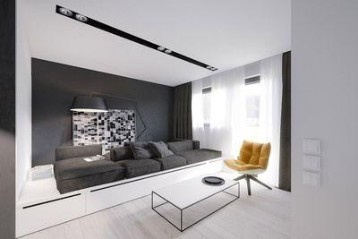 Черный диван в интерьере: три стиля