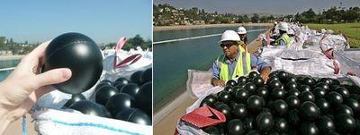 Миллионы чёрных шаров спасают горожан от опасной воды