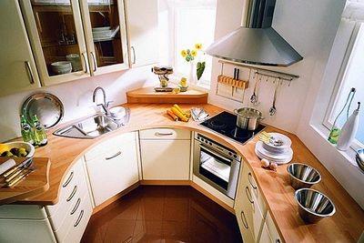 Обустройство интерьера маленькой кухни