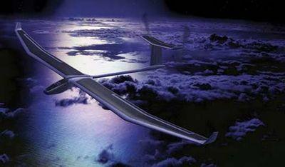 Самолёт на солнечной энергии будет летать ночью