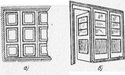 Столярные перегородки, барьеры, панели, тамбуры и тяги