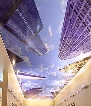 Тканевые натяжные потолки в интерьере