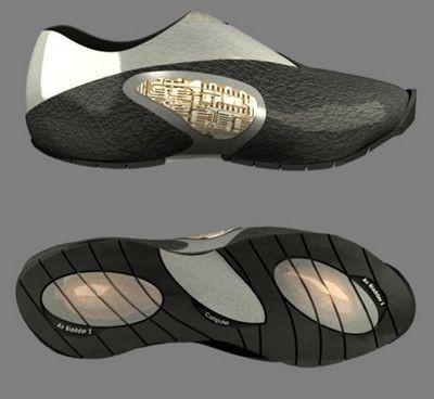 Verb for shoe: электронные ботинки обучаются стилю владельца